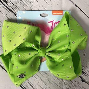 "Lime green 8"" JoJo Siwa nickelodeon jeweled bow"